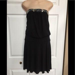 Strapless beaded dress by White House Black market